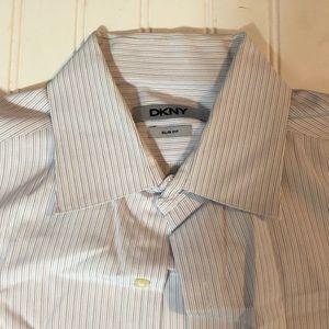 DKNY Slim Fit Men's Dress Shirt